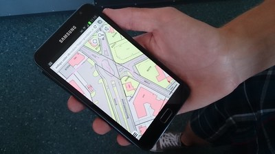 Mobiles Web-GIS auf Android Smartphone
